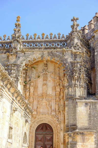 Knights Templar Photograph - Portugal, Tomar Tomar Castle, Knights by Emily Wilson