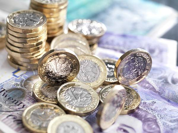 Legal Tender Photograph - Pound Coins And Bank Notes by Tek Image/science Photo Library