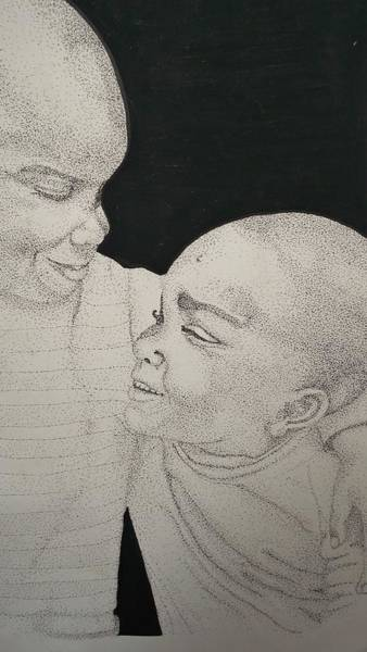 Wall Art - Drawing - Precious Friendship by Marjudy Royo