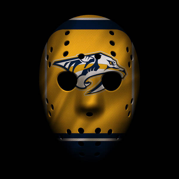 Nashville Photograph - Predators Jersey Mask by Joe Hamilton
