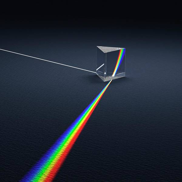 Wavelength Photograph - Prism Dispersing Light Into Spectrum by David Parker