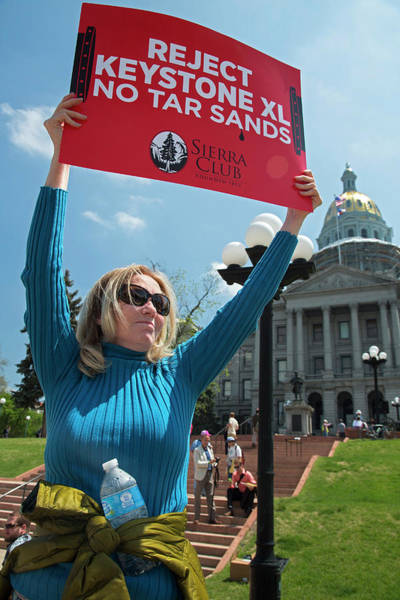 Rally Photograph - Protest Against Keystone Xl Pipeline by Jim West