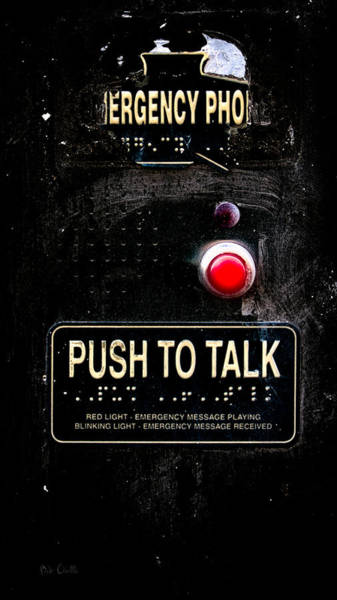 Photograph - Push To Talk by Bob Orsillo