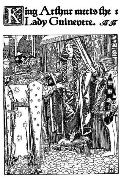 Courtiers Drawing - Pyle King Arthur by Granger