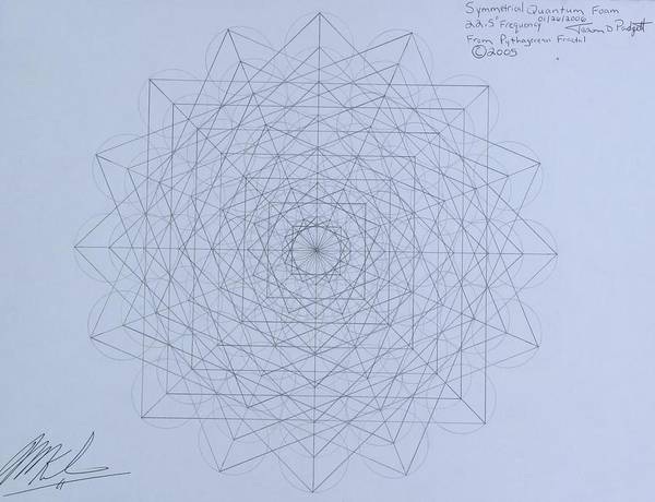 Wall Art - Drawing - Quantum Foam by Jason Padgett