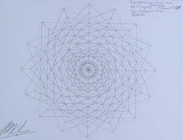 Drawing - Quantum Foam by Jason Padgett