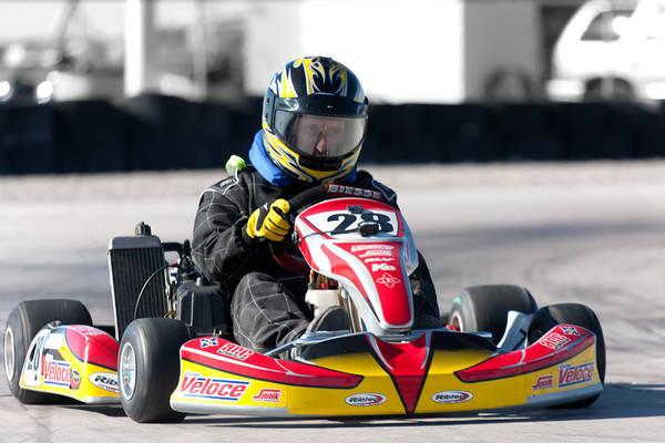Photograph - Racing Go Kart by Gunter Nezhoda