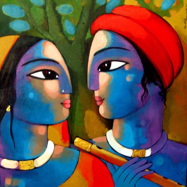 Painting - Radha Krishna by Sekhar Roy