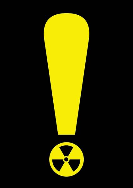 Half Life Photograph - Radiation Warning, Conceptual Artwork by Science Photo Library