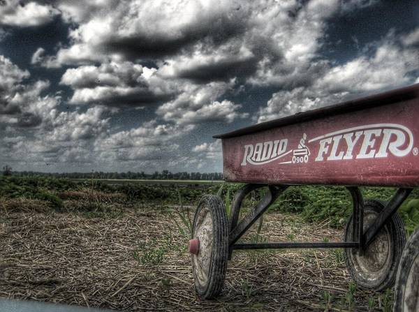 Red Wagon Wall Art - Photograph - Radio Flyer by Jane Linders