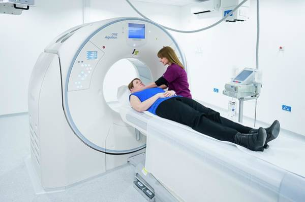 Genesis Photograph - Radiographer Preparing A Ct Scan by Aberration Films Ltd/science Photo Library