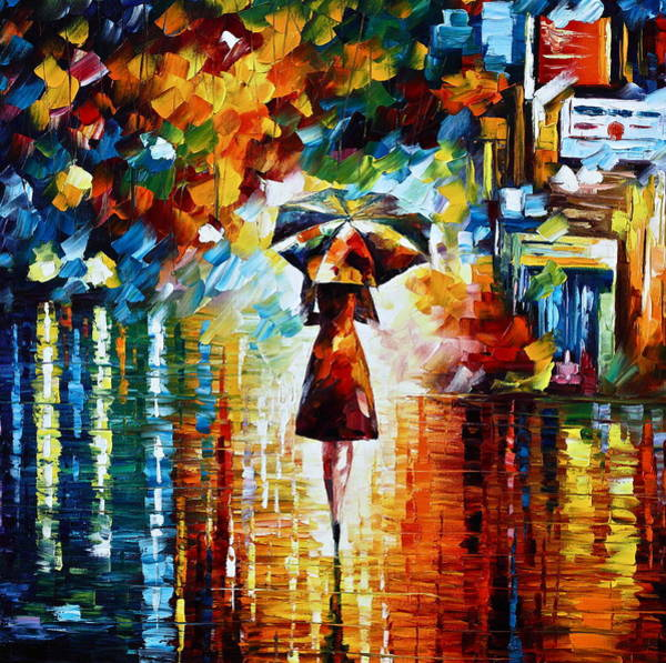 Palette Painting - Rain Princess - Palette Knife Landscape Oil Painting On Canvas By Leonid Afremov by Leonid Afremov