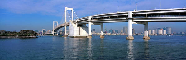 Wall Art - Photograph - Rainbow Bridge Over Tokyo Bay, Tokyo by Panoramic Images