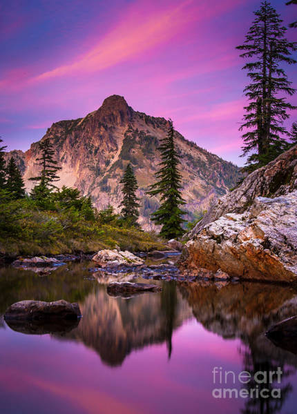 Alpine Lakes Wilderness Photograph - Rampart Lakes Tarn by Inge Johnsson