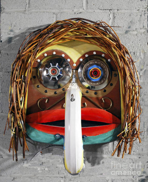 Photograph - Recycling Spirit Mask by Bill Thomson