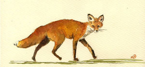 Hunt Wall Art - Painting - Red Fox by Juan  Bosco