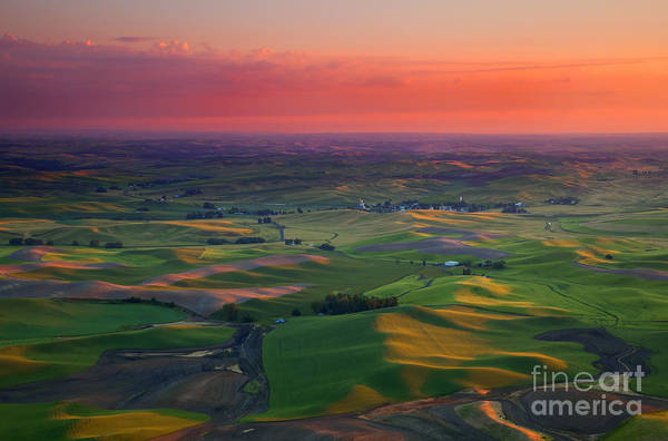 Palouse Photograph - Red Skies Over The Palouse by Mike  Dawson