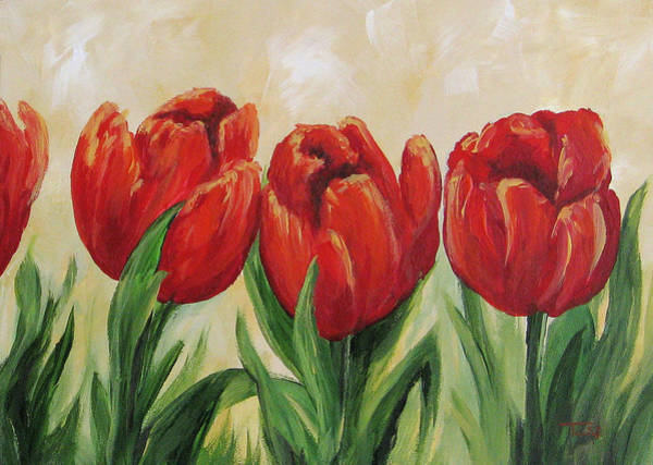 Painting - Red Tulips by Torrie Smiley