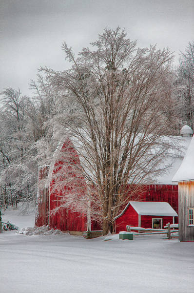 Photograph - Red Vermont Barn by Jeff Folger