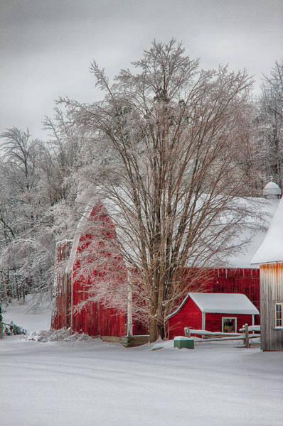 Red Vermont Barn Art Print