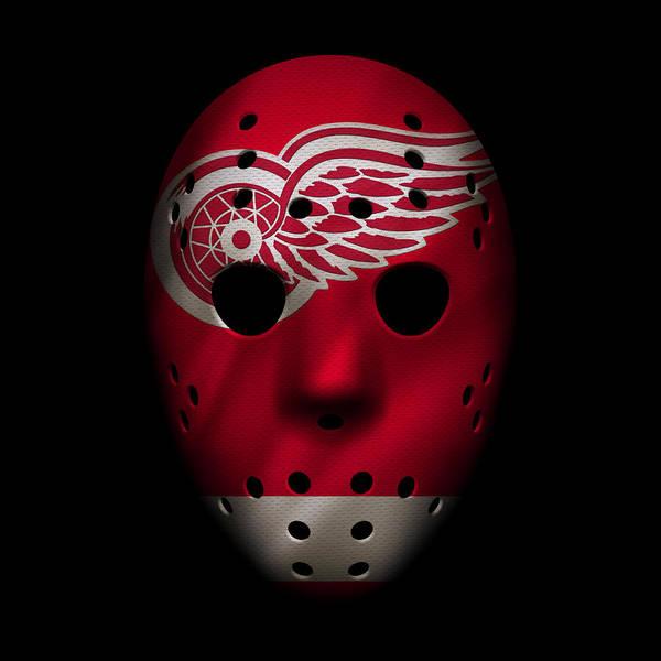 Wall Art - Photograph - Red Wings Jersey Mask by Joe Hamilton