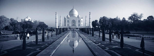 Minarets Photograph - Reflection Of A Mausoleum On Water, Taj by Panoramic Images
