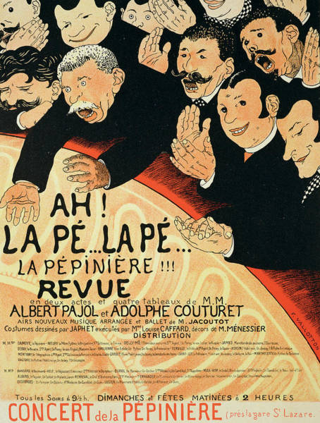 Wall Art - Drawing - Reproduction Of A Poster Advertising by Jules Alexandre Gruen or Grun
