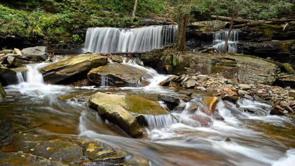 Troll Photograph - Ricketts Glen Delaware Falls by Frozen in Time Fine Art Photography