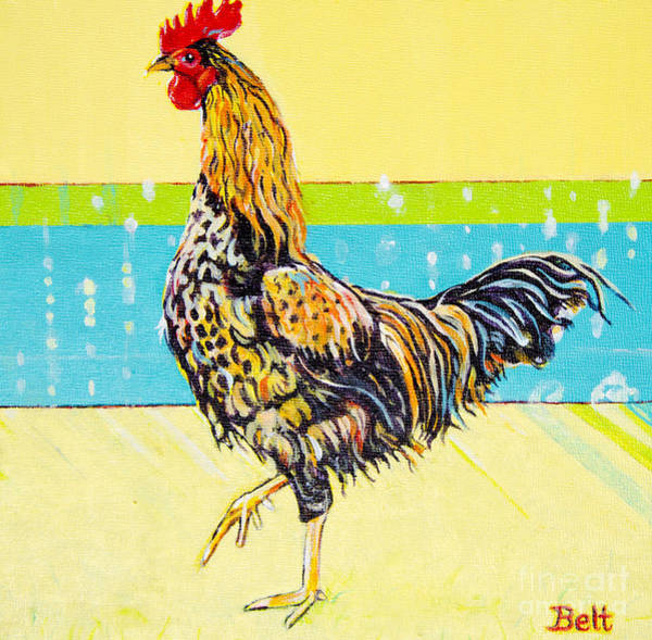 Wall Art - Painting - Ricky The Rooster by Christine Belt