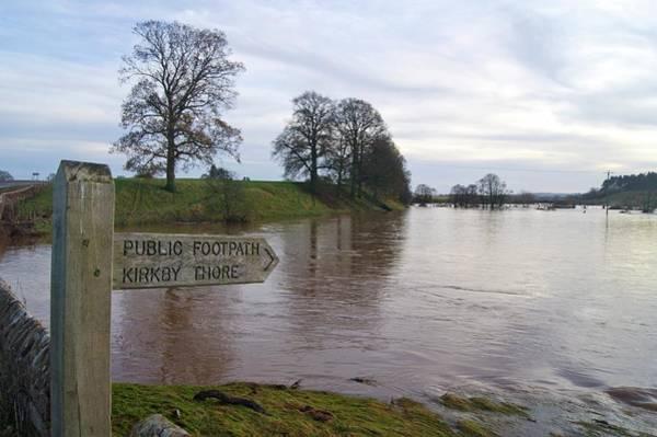 Land Mark Photograph - River Eden Flooding. by Mark Williamson