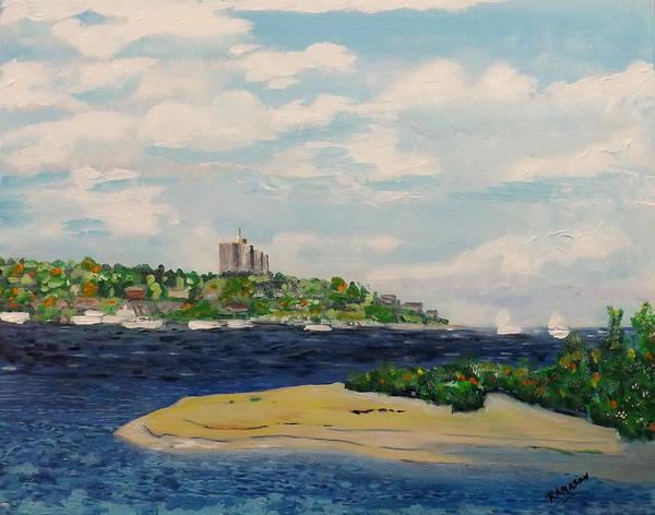 Wall Art - Painting - River Meets Bay by Rich Mason
