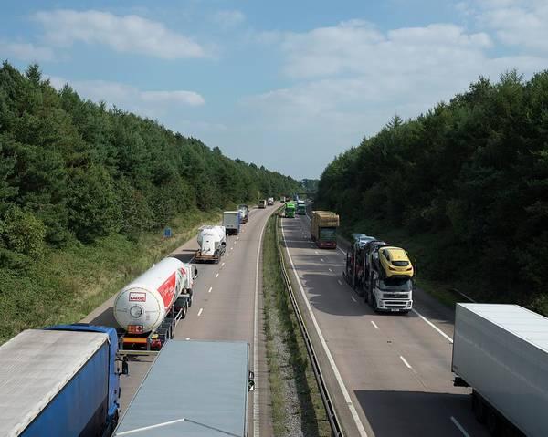 Logistics Photograph - Road Freight by Robert Brook