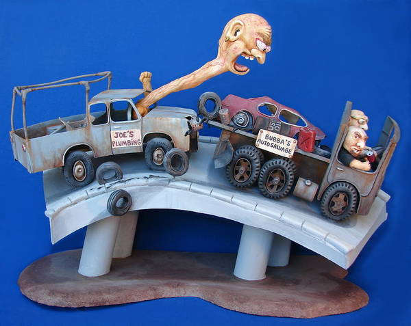 Wall Art - Sculpture - Road Rage by Stuart Swartz