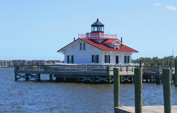 Screw Pile Wall Art - Photograph - Roanoke Marshes Light 2 by Cathy Lindsey