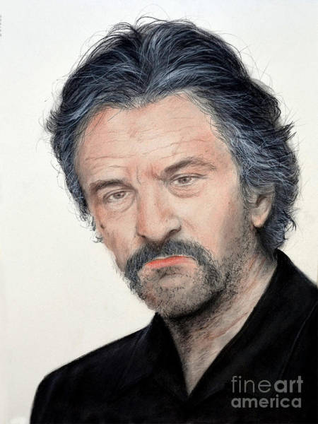 Wall Art - Drawing - Robert De Niro In Jackie Brown by Jim Fitzpatrick