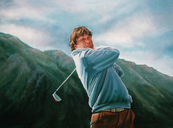Golf Painting - Robert Jan Derksen by Paul Meijering