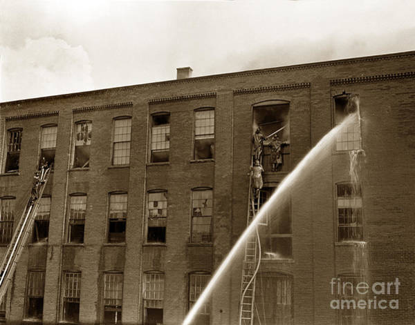 Photograph - Rochester Show Case Co. Fire New York State Circa 1904 by California Views Archives Mr Pat Hathaway Archives