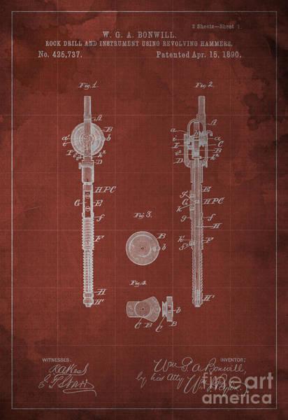 Drill Wall Art - Digital Art - Rock Drill And Instrument Using Revolving Hammers by Drawspots Illustrations