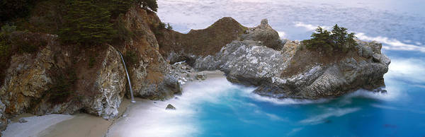 Monterey Park Photograph - Rocks On The Beach, Mcway Falls, Julia by Panoramic Images