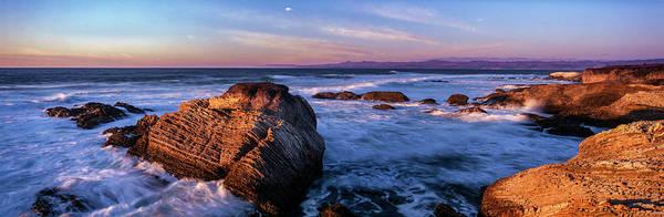 Montana De Oro State Park Photograph - Rocky Coastline At Sunset, Montana De by Panoramic Images
