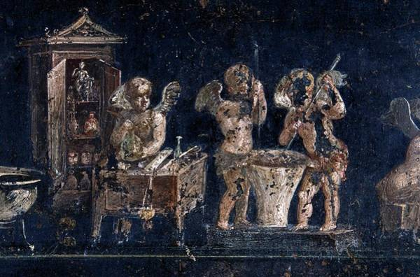 Wall Art - Photograph - Roman Fresco Showing Perfume Production by Patrick Landmann/science Photo Library