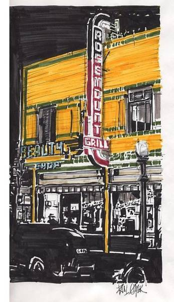 Rosemount Grill Art Print by Paul Guyer