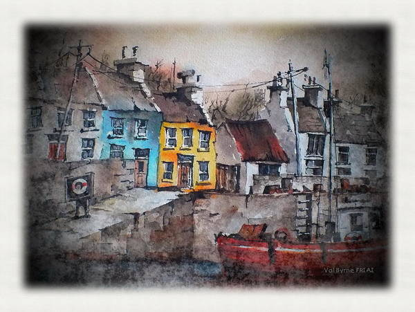 Mixed Media - Roundstone Harbour  Galway by Val Byrne