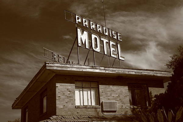 Photograph - Route 66 - Paradise Motel by Frank Romeo