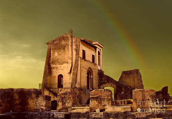 Photograph - Ruin At Palatine Hill by Julian Cook