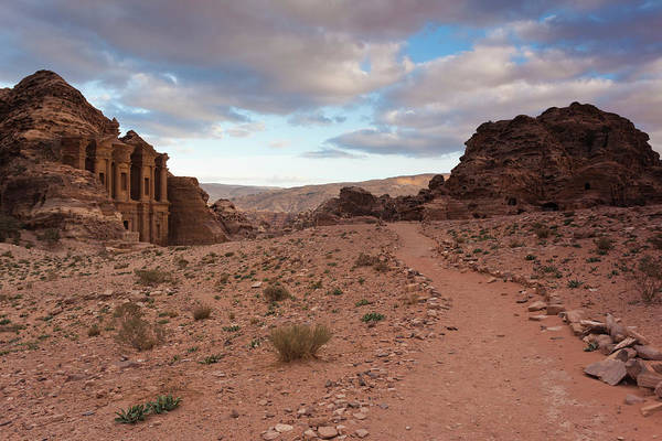 Ad Photograph - Ruins Of Ad Deir Monastery At Ancient by Panoramic Images
