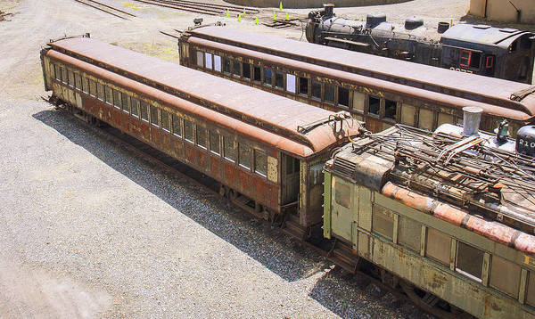 Photograph - Rusty And Crusty Train by Nick Mares