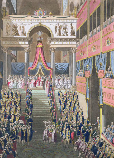 Courtiers Drawing - Sacred Festival And Coronation by Louis Le Coeur