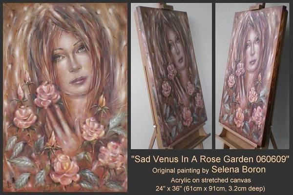 Sad Venus In A Rose Garden 060609 Art Print
