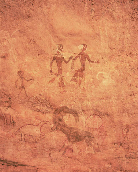 Pictograph Photograph - Saharan Rock Art by David Parker/science Photo Library